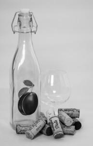 Láhve-špunt-sklo